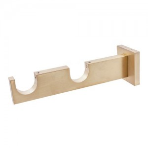 """Square Double Bracket for 1 1/8"""" Curtain Rod~ Each"""