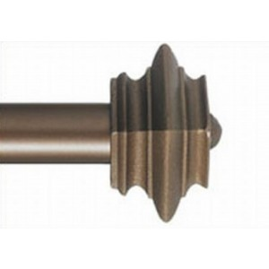 "Square Cap Single Rod Set ~ 1 1/2"" Rod Diameter"