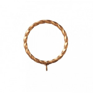"""Twisted Steel Ring for 2"""" or 2 1/4"""" Curtain Rods~Each"""