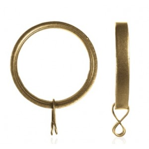 "Curtain Ring for 7/8"" and 1 1/4"" Curtain Rods~Each"