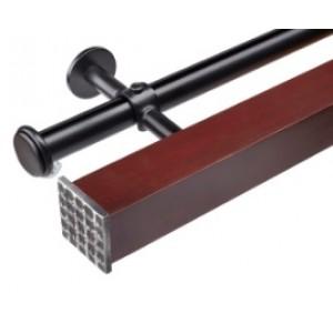 "Double Traverse Rod Set~2"" Square"