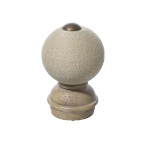 "Stone Threaded Finial #1 for 2"" Rod Diameter~Each"