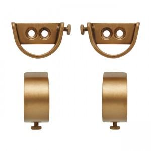 "Steel Inside Mount Curtain Rod Bracket for 2"" Drapery Rods~Pair"
