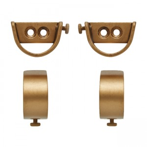 "Steel Inside Mount Curtain Rod Bracket for 2 1/4"" Drapery Rods~Pair"