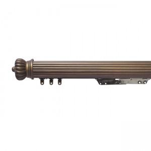 "6' Reeded Light Duty Traverse Rod~2"" Diameter"