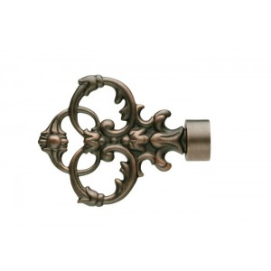 UFN4 Distressed Copper Finial~Pair