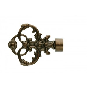 UFN4 Weathered Copper Finial~Pair