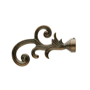UFN5 Weathered Copper Finial~Pair