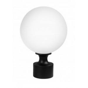 """Frosted Acrylic Ball Finial for 1"""" Curtain Rod~Each"""