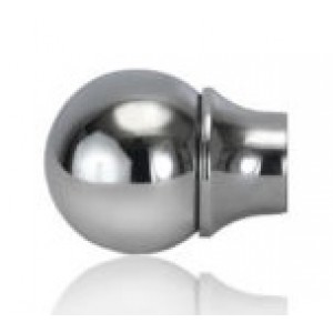 """1 1/2"""" Cannonball Finial with Fluted Base for 7/8"""" & 1 1/4"""" Curtain Rod~Each"""