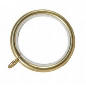 "Curtain Ring with Liner for 1 1/2"" Curtain Rod~Box of 50"