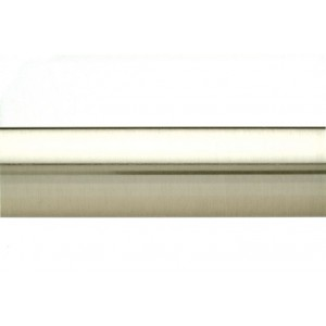 "Brushed Nickel 1 1/8"" Diameter Metal Curtain Rod"