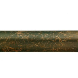 """Weathered Copper 1 1/8"""" Metal Curtain Rod"""