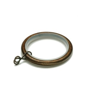 Weathered Copper Rings with Plastic Insert~10 Pack