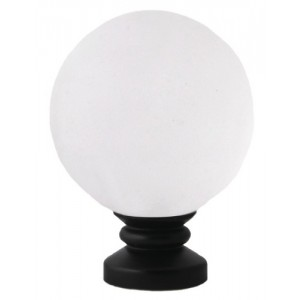"Frosted Ball Finial for 1"" Diameter Rod"