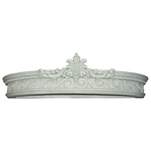 Castle White Corona Bed Crown