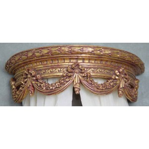 Livorno Gilded Gold Bed Brown