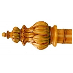 "Bamboo Crown Finial for 2"" Curtain Rod~Each"