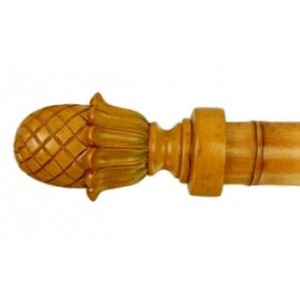 "Bamboo Pineapple Finial for 2"" Curtain Rod~Each"