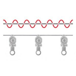 White Ripplefold Ball Bearing Roller Carrier~Each