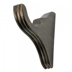 """Ribbed Window Bracket for 2"""" Curtain Rod~Pair"""