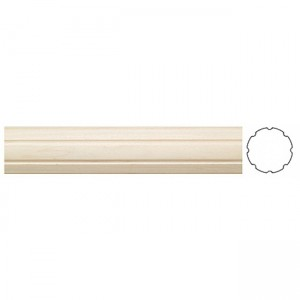 "1 3/8"" Fluted Wooden Drapery Curtain Rod"