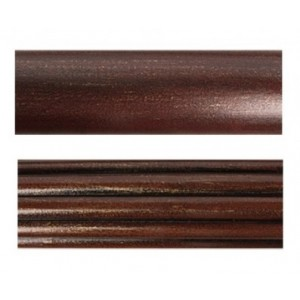 """4' Fluted or Smooth Wood Drapery Curtain Rod~2"""" Diameter"""