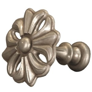 Antique Silver Fleur Top Treatment/Tieback~Each