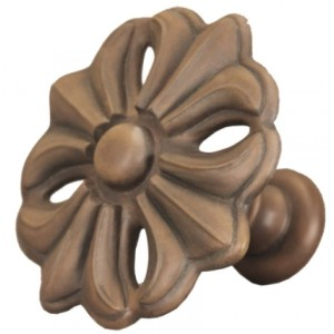 Faux Wood Fleur Top Treatment/Tieback~Each