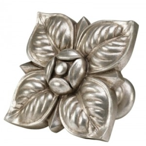 Antique Silver Square Petals Top Treatment/Tieback~Each