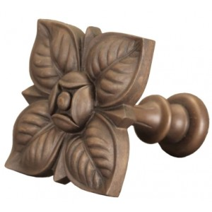 Faux Wood Square Petals Top Treatment/Tieback~Each