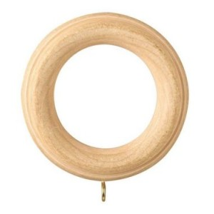 "Ribbed Wood Curtain Ring for 3"" Drapery Rod~Each"