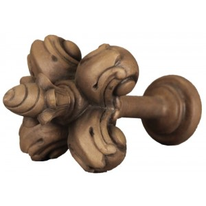 Faux Wood Fleur De Lis Tieback~Each