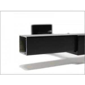 "3/4"" Black Square Curtain Rod (by the foot)"