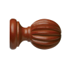 """Fluted Wood Finial for 2"""" Rod Diameter"""