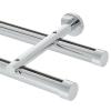 "8' Aria Metal H-Rail Double Traverse Rod Kit~1 1/8"" Curtain Track"