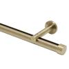 "6' Aria Metal H-Rail Traversing Rod Kit~1 1/8"" Curtain Track~3 1/2"" Projection"