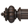 """Louise Curtain Rod Finial for 2 1/4"""" Wood Drapery Rods~Pair"""