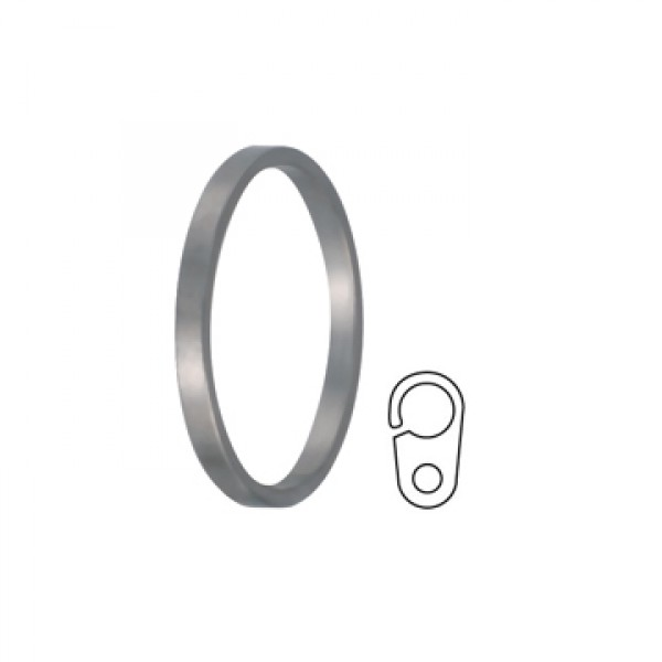 Flat Curtain Ring with Clip