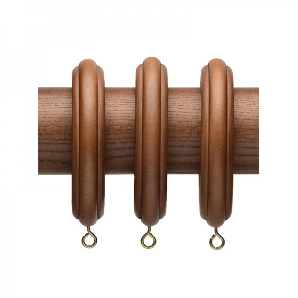 Ribbed Wood Curtain Rod Rings For 2 1 4 Quot Drapery Rods 7 Pack