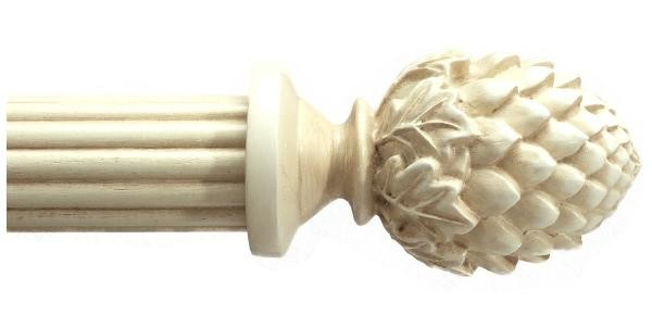 Bergamo Antique White Curtain Rod Set