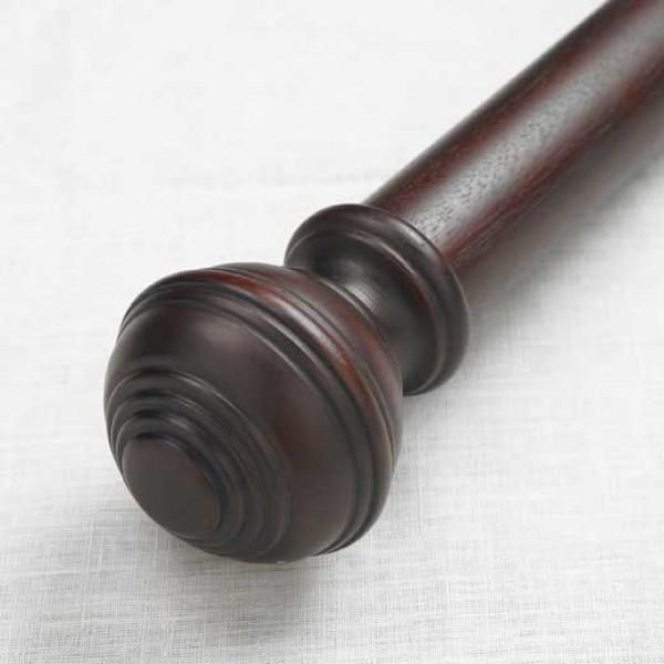 """Turned Knob Single Rod Set ~ 2"""" Diameter"""