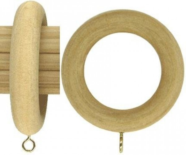 """Smooth Wood Ring for 1 3/8"""" Rod ~ Each"""