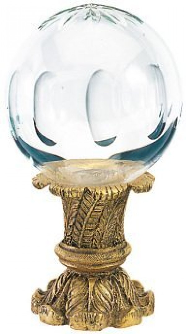 Finesse Extra Large Hollow Cut Crystal Finial