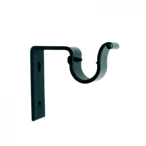 """Iron Bracket for 1"""" Curtain Rods~3"""" Projection~Each"""