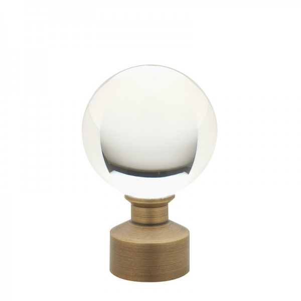 Brushed Brass Acrylic Ball Finial