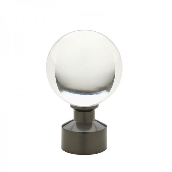 Graphite Acrylic Ball Finial
