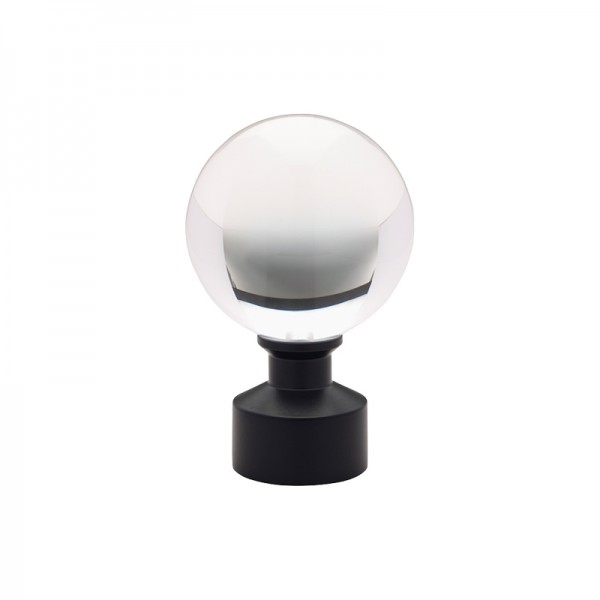 Matte Black Acrylic Ball Finial