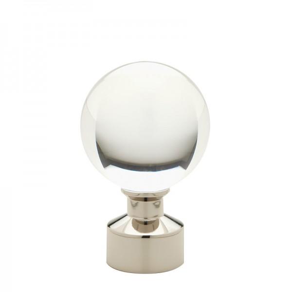 Polished Nickel Acrylic Ball Finial