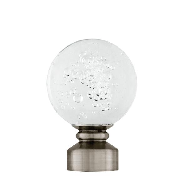 Aria Blown Glass Brushed Nickel
